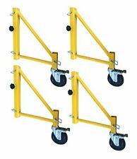18 inch Scaffolding Outriggers with Casters - 4 Piece Set
