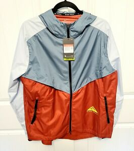 Nike Windrunner Mens Large Trail Running Jacket Dark Cayenne/Pure Platinum NWT