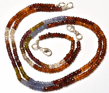 """1STAND Natural  Multi color Garnet Faceted Rondelle Beads NECKLACE 3 - 3.5MM 16"""""""