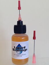 Liquid Bearings 100%-synthetic oil for squeaky office chairs and equipment, READ