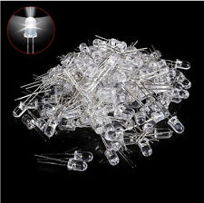 New 100pcs  Bright Round White LED Emitting Diode Electronic Light Bulb 5mm