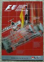 SPANISH GRAND PRIX FORMULA ONE 2000 F1 Barcelona Official Programme