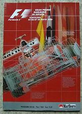 Gran Premio de España de Fórmula Uno 2000 F1 Barcelona Programa Oficial