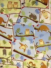 RPF22 Frolic Forest Varmint Opossum Squirrel Raccoon Owl Cotton Quilt Fabric