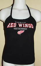 Womens Detroit Red Wings NHL Hockey Reconstructed Shirt Halter Top DiY Size S