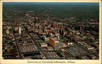 Indianapolis USA vintage postcard 1965 Aerial View of Downtown Fliegeraufnahme