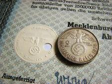 War-time German Municipal Bond Certificate WWII + Swastika (500 Reichsmark) WWII