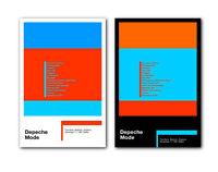 ❤ Depeche Mode Setlist Brighton 1981 ❤ a pair of modernist poster art prints