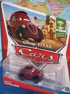 DISNEY PIXAR CARS UNCLE TOPOLINO FESTIVAL ITALIANO ***BRAND NEW & RARE***