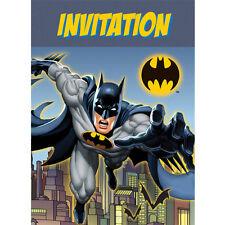 BATMAN Gotham Hero INVITATIONS (8) ~ Birthday Party Supplies Stationery Cards