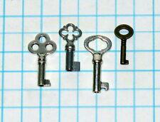 Vtg Antique Reproduction Hollow Barrel Cabinet Desk Lock Skeleton Key Mixed Set