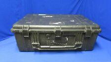 Pelican 1650 Case Black w/foam on top/bottom  (Has only 1 wheel)
