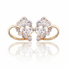 Earrings Solid 9ct Gold Filled Diamond Heart Studs Gift Mother Summe Wedding