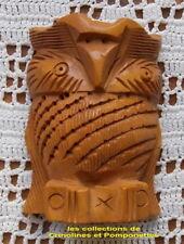 HIBOU SCULPTE A LA MAIN EN BOIS LE HIBOU PHILOSOPHE