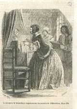 Marquise de Brinvilliers empoisonnant malades de l'Hôtel-Dieu Paris GRAVURE 1851