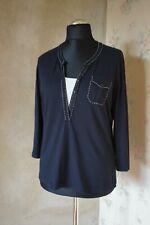 Gerry Weber Edition Womens T-shirt Blouse Polo Shirt L 16 42 Top Slim Plus Size