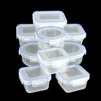 3 x Clip & Lock lids Containers Storage Plastic Boxes Fresh Food Pack Lunch