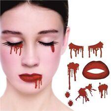 KIT Tatuaggio VAMPIRO NAIL ART Halloween Horror Accessorio Trucco Faccia di sangue