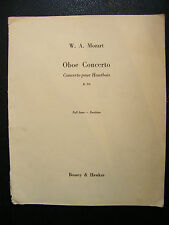 Partition Concerto pour Hautbois K 314 WA Mozart Music Sheet