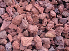 Red Lava Rock (approx 15 lbs) for firepits, bbq grilling, FREE PRIORITY SHIPPING
