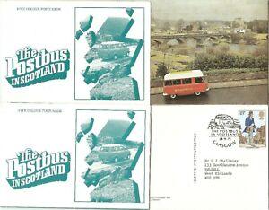 2 PACKS OF THE POSTBUS IN SCOTLAND POSTCARDS 1 MINT + 1 FDI 1979