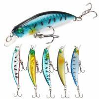 Minnow pesca con señuelos Crankbait buceo profundo Bass frente Cebo duro