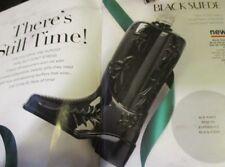 AVON  Limited Edition!  BLACK SUEDE Boot Decanter w Eau de Toilette   5 oz