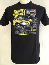 "Kenny Roberts ""King Kenny "" 3 Times 500cc World Champion T-SHIRT - 2XL, XX-LARGE"