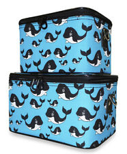 Whale Train Case Set Makeup Beauty Cosmetic Vanity Storage Box Carrier Girls Kid