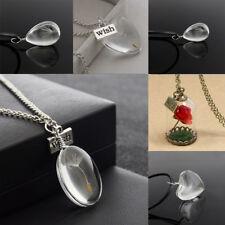 Wish Women Girls Gifts Flower Rose Necklace Presents Friends Glass Birthday Gift