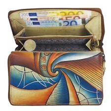 GREENLAND Damen Leder Geldbörse Portemonnaie Geldbeutel Art+Craft Unikat 101-09