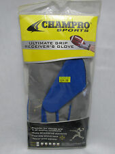 Champro Sports Football Receiver's Glove Ultimate Grip ADULT 2XL Royal/Grey NEW