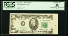 US Board Break on Face Error $20 1990 Federal Reserve PCGS Extremely Fine 45
