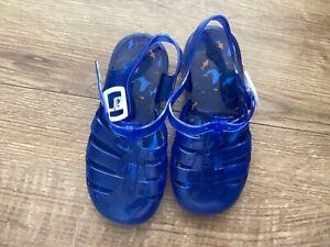 boys kids Blue Jelly Sandals uk 9