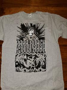 Papa Roach Gray Concert T Shirt Rock Band 2010 Medium