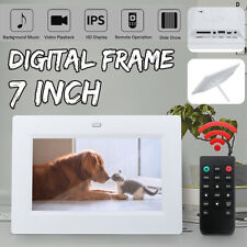 7'' HD Digital IPS Photo Frame Album Picture MP4 Movie Player Remote Control
