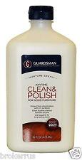 GUARDSMAN ANYTIME CLEAN & POLISH WOOD FURNITURE CREAM UV Protect Sunblock 461500