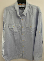 ORVIS MEN'S LONG SLEEVE BUTTON FRONT SHIRT SIZE XL