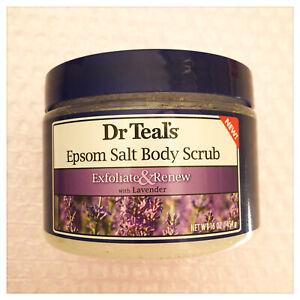 Dr Teal's Epsom Salt Body Scrub Exfoliate & Renew with Lavender 16oz - Australia