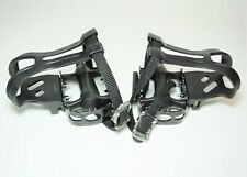 VP-992 MOUNTAIN ROAD BIKE BICYCLE PLATFORM CAGE PEDALS WITH CLIPS 9/16 X 20TPI