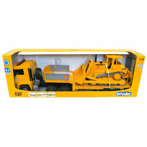 Bruder 1/16 Man Tga Loader Truck with Cat Bulldozer Vehicles-Toys 02778