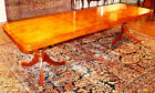 """Stunning Light Burled Walnut Dining Table With 2 Leaves Narrow 38"""" Depth"""