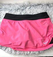 Girls Nike Dri-Fit Black Athletic Tennis Skirt Skort Sz M