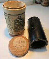 Edison Bell EARLY Gold Molded BLACK WAX Phonograph Cylinder ~ Two Little Chicks