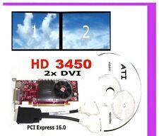 DUAL DVI MONITOR SFF PCI-e x16 Video Card. Dell Optiplex GX620 GX280 Low-Profile