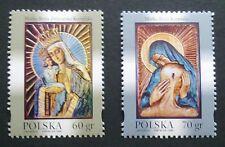 POLAND STAMPS MNH Fi3605-06 Sc3444-45 Mi3753-54 - Holy virgin, 1999, clean