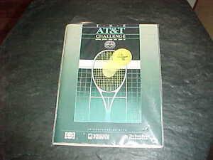 1988 AT&T Challenge Tennis Program Boris Becker Champ v John McEnroe Runner Up