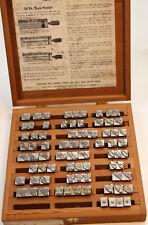 Kingsley Hot Foil Stamping Machine Type 48pt Typo Script Caps & Dots Wood Box