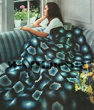 Vintage Crochet Pattern/Instructions To Make Hexagon Afghan/Blanket/Throw.