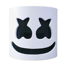 DJ-Marshmello Full Mask Latex Marshmallow Helmet for Halloween Rave Costume